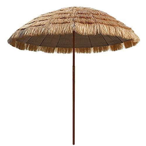 WUKALA 2021 Nouvelle Mise À Niveau Ombrelle d'extérieur 6ft,Parasol de Plage en Paille de Raphia Ombrelle Terrasse Coupe-Vent,pour Parasol Exterieur Balcon Café-Restaurant Pêche Camping