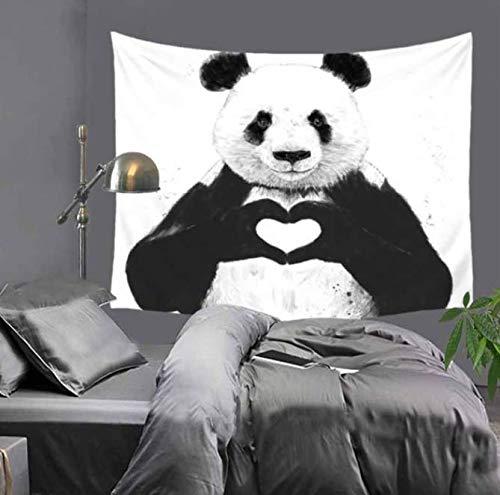 Amour Pandas Enfants Mur Tapisserie De Bande Dessinée Dessin Animé Déco Fond Tissu Enfants Chambre Tapisserie Plafond Rideau Châle Hd Motif 150 * 200 Cm