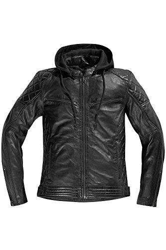 Difi DETROIT Motorradjacke Leder Retro Farbe schwarz, Größe 52