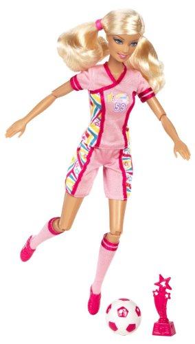 Mattel Barbie X9082 - Ich wäre gern... Fußballspielerin, Puppe mit Zubehör