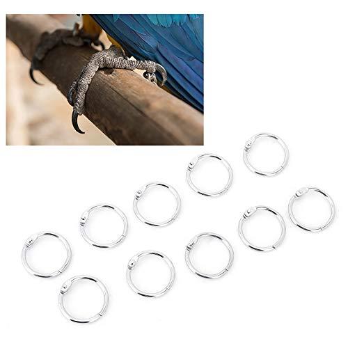 Pssopp 10 STÜCKE Vogel Fuß Ringe Robuste Papagei Eisen Fußkettchen Schnalle Durable Taube Fuß Ring Set Tier Fütterung Werkzeuge