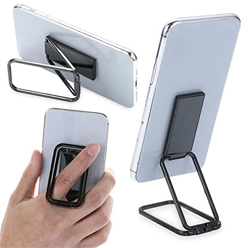 YIANK Soporte magnético retráctil para teléfono - Rotación plegable 360 ° dedo Kickstand ultra delgado anillo trasero de metal agarre soporte para teléfono compatible (plata 2 piezas)