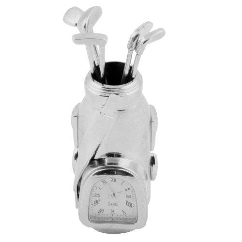 Uhrenminiatur Golftasche Novelty Quartzuhrwerk Sammleruhr 9366S