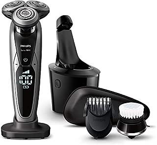 フィリップス 9000シリーズ メンズ 電気シェーバー 72枚刃 回転式 お風呂剃り & 丸洗い可 トリマー・洗顔ブラシ・洗浄充電器付S9732A/33