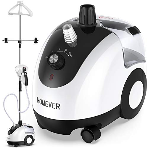 Homever Steamer for Clothes, Garment Steamer 25s Fast Heating with Auto-Clean Mode, Upgraded Horizontal or Vertical Ironing, 2.6L/88oz, 90min...