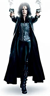 Underworld Kate Beckinsale as Selene in Corseted Catsuit and Trench Coat Full Body with Smoking Guns 8 x 10 Photo