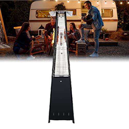 GuoYq Estufa de Gas para Terraza, Calefacción Exterior Piramidal de Alta Eficiencia de 13000W, Calefactor de Terraza para Ambientes Exteriores E Interiores como Terrazas (Sin Válvula) Iron