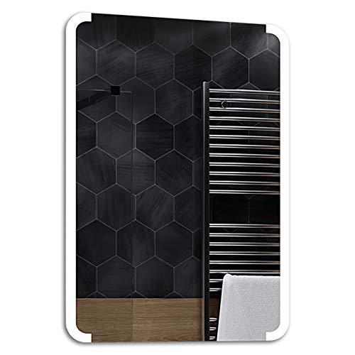 ALASTA® Miroir   LED Miroir Salle Bain   Seattle   Nouvelle Génération Miroir avec Accessoires   Blanc Froid/Chaud en Option