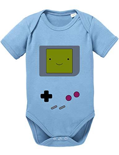 Game Smile Body PS bébé Coton Bio Proverbes Station Barboteuses Garçons et Filles 0-12, Größe2:56/0-2 Mois, Baby:Baby Blue