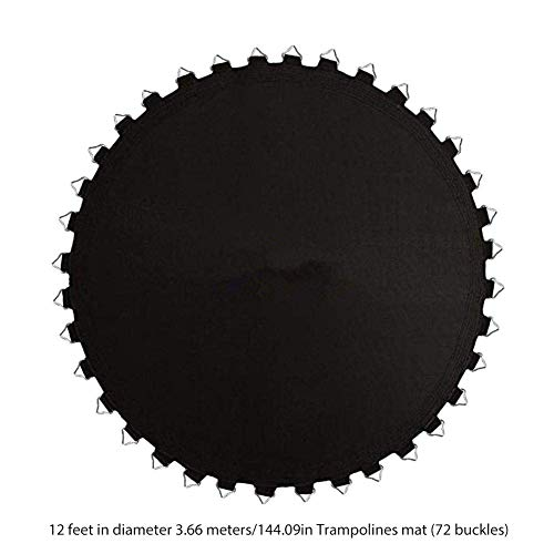 HTYG Tapis de Saut de Rechange Pro Trampoline   Compatible avec Les Cadres Ronds   Rebond Parfait, résistant à l'eau, résistant aux UV (14ft (80 Buckle))