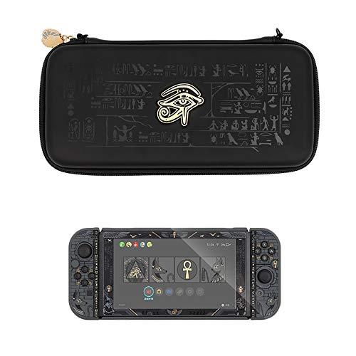 YUDIZWS Estuche Protector portátil para Nintendo Switch, Misterioso Almacenamiento de Viaje de Estilo Egipcio con 10 Soportes para Cartuchos de Juegos para Juegos Accesorios de Switch,B