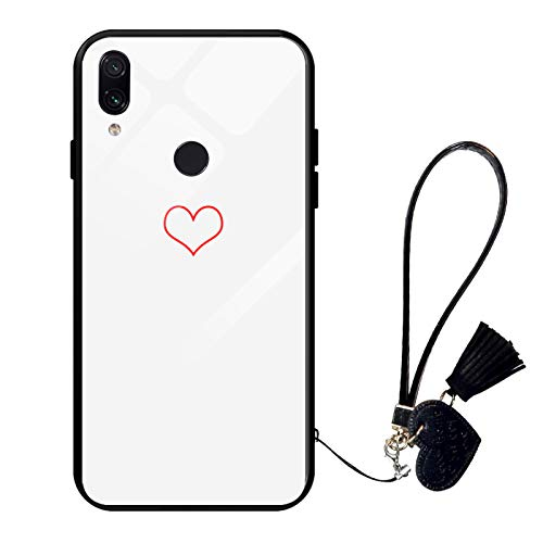 Suhctup Compatible con Xiaomi Redmi Note 4X Funda Vidrio Templado con Cordón Cuerda y Dibujos Diseño Carcasa TPU Cuadro Suave Bumper Anti-Choques Anti-Arañazos Cover,Amor 4