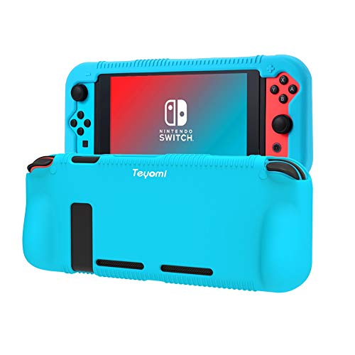 Nintendo Switch Hülle,Teyomi Nintendo Switch Schutzhülle aus Silikon,Kompatibel mit Nintendo Switch Case(Blue)