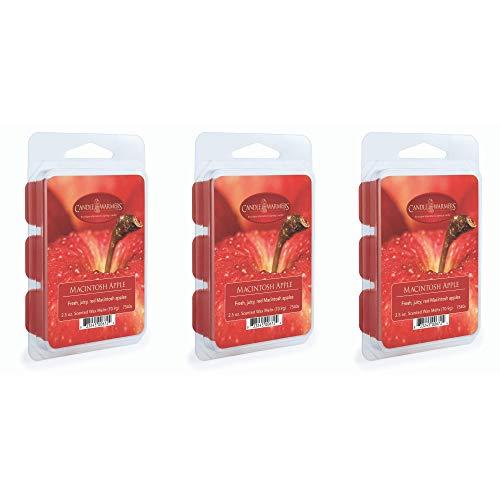 CANDLE WARMERS ETC 3-Pack 2.5 oz Wax Melt Tart Brick, Macintosh Apple -  AZ7540s