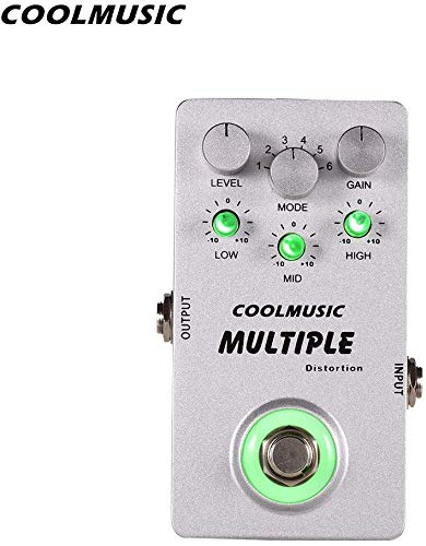 Coolmusic A-MT6 Multi Effects Pedal, Integrates 6 kinds of heavy metal...