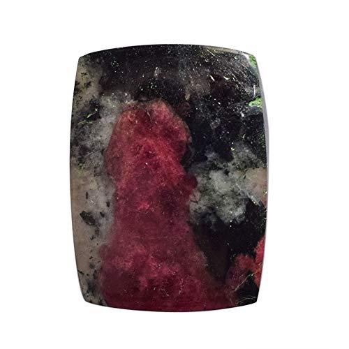 Cabochon di Eudialyte rosa naturale, dimensioni 24 x 18 x 4 mm, prodotto da Kola Peninsula, fatto a mano, pietre per ciondoli, fornitori di eudialyte AG-14344