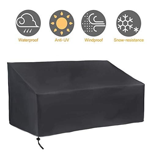 ZDW Jardín de muebles de la cubierta, cubierta protectora impermeable 420D Oxford tela, impermeable al aire libre cubiertas de la silla cubierta Patio Muebles de jardín de almacenamiento, 134X66X89Cm