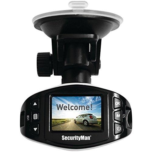 SECURITYMAN CARCAM-SDEII Mini HD Car Camera Recorder II with Impact-Sensing Recording electronic consumer