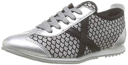Munich Osaka, Zapatillas de Deporte para Mujer, Plateado (Plata 401), 37 EU