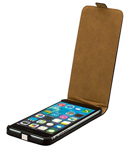 Kobert-Goods Leather Flip Case voor iPhone 4 / 4S / 5 / 5S / 5C / 6/6+ Case Cover Leather Case in Black met magnetische sluiting, iPhone 6+ 5,5