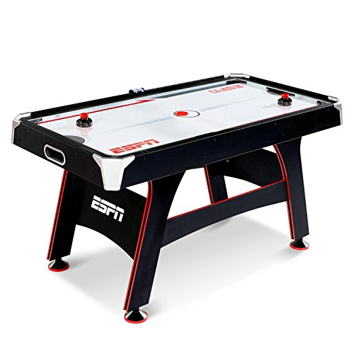 ESPN Air Hockey Game Table: Indoor Sports Gaming Table Set with Equipment...