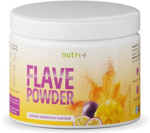 Geschmackspulver Mango Maracuja - Flav Powder Vegan 270g - Flave Pulver für Lebensmittel, Wasser ohne Zucker, Quark uvm - Maracuya Geschmack - nur 7 Kalorien pro Portion