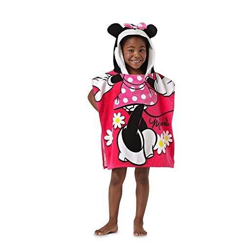 Disney Minnie Mouse 22 x 22 Hooded Poncho Bath/Beach Towel