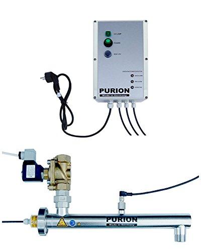 PURION 1000 H Système de désinfection UVC Legionella avec conditionneur d'eau UV avec électrovanne et Surveillance du capteur