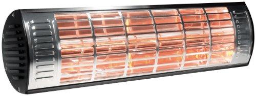 Transmedia Infrarot Heizstrahler 230V/2000W, 5 m Anschlusskabel, mit Halterung für Wandmontage, Ohne UV-Strahlung, 485 x 130 x 112 mm, LIHS1L