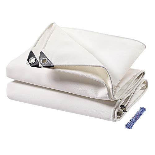LIUDINGDING-zheyangwang Lona Impermeable Resistente A La Lluvia Paño Protector Solar Sombra Al Aire Libre Toldo Muebles De Tela Anti-UV - Blanco 6X8m(Size:9.8X19.6ft/3X6m)