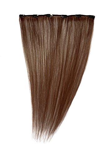 Love Hair Extensions - LHE/A1/QFC12/18/33 - 100 % Cheveux Naturels - Barrette Unique Extensions à Clipper - Couleur 33 - Cuivre Riche - 46 cm