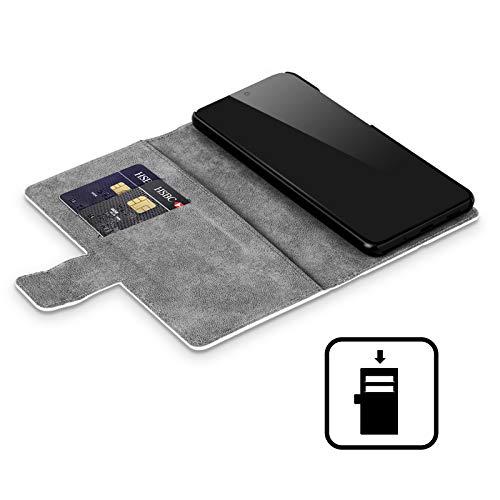 Head Case Designs Offizielle Harry Potter Severus Snape Deathly Hallows VIII Leder Brieftaschen Handyhülle Hülle Huelle kompatibel mit Samsung Galaxy Note9 / Note 9