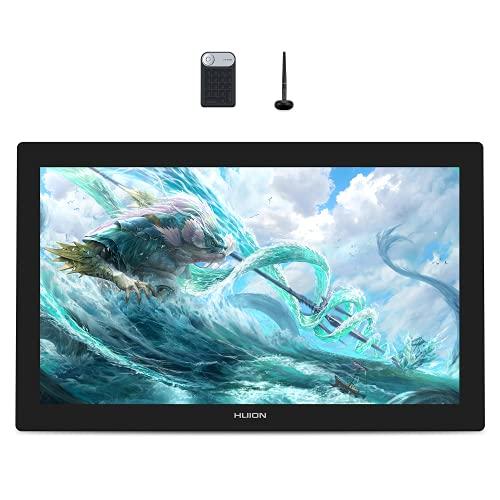 【HUIONフラッグシップモデル】 HUION液タブ Kamvas Pro 24 (4K) 感動するほど美しいディスプレイ UHD 4K高画質 23.8インチ 140%sRGB QLED量子ドット技術 HDR機能 視差無し AGガラス搭載フルラミネートスクリーン スタンド内蔵 VESA対応 スマホに使える 充電不要ペン 傾き検知 筆圧8192 防眩 左利き Android/Mac/Windows テレワーク 在宅勤務 オンライン授業 イラスト 写真加工 【一年保証】