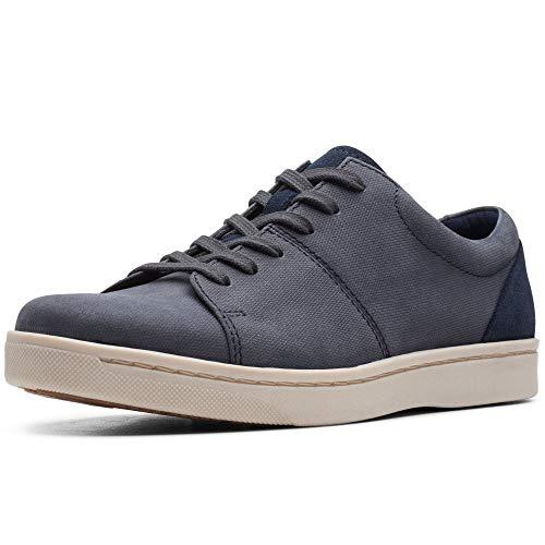 Clarks Herren Kitna Vibe Sneaker, Blau (Navy Nubuck Navy Nubuck), 44.5 EU