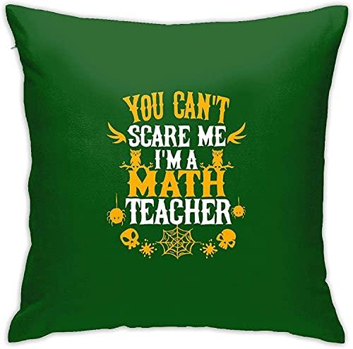 No Puedes Asustarme Soy un Profesor de matemáticas Funda de Almohada Cuadrada Sofá para el hogar Decorativo 18 'X 18' Pulgadas Ultra Suave Cómodo