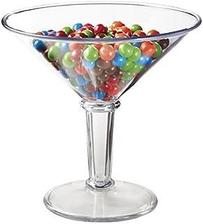 48 oz. Super Martini Glass, Plastic, Break Resistant, Dishwasher Safe, BPA Free, GET SW-1419-1-SAN-CL