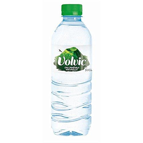 Minérale naturelle Volvic 500ml d'eau (Pack de 24 x 50cl)