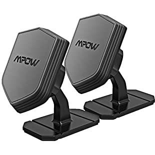 Car Phone Holder, Mpow Shield Compact Magnetic Phone Mount 360° Rotatable Dashboard Cars Mount Cardle for iPhone X 8 8 Plus 7 6 Samsung Galaxy S9 S8 S7 LG Sony Xperia Google Nexus GPS (2 PCS)