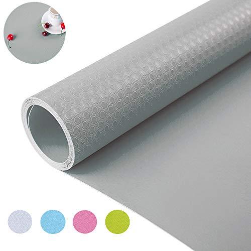 """Bloss Shelf Liner Drawer Liner Cabinet Liner for Drawers, Shelves, Kitchen Cabinets, Kitchens and Desks, Grey 17.7""""×59"""""""