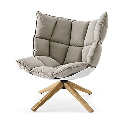 Sofakussen, gestoffeerde houten poten voor de slaapkamer, vloerbedekking, zitbank, stoelen, spel, moderne houten loungebank Eén maat grijs