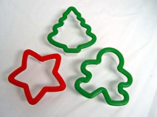 Set of Three Holiday Wilton Grippy Comfort Grip Cookie Cutters