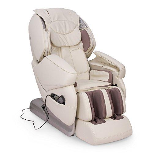"""NIRVANA® Sillón de masaje 3D - Beige (modelo 2020) - Sillon masajeador relax de shiatsu con 9 programas masajeadores - Gravedad y Pared """"Cero"""",magnética, ionizador-Garantía 5 AÑOS"""