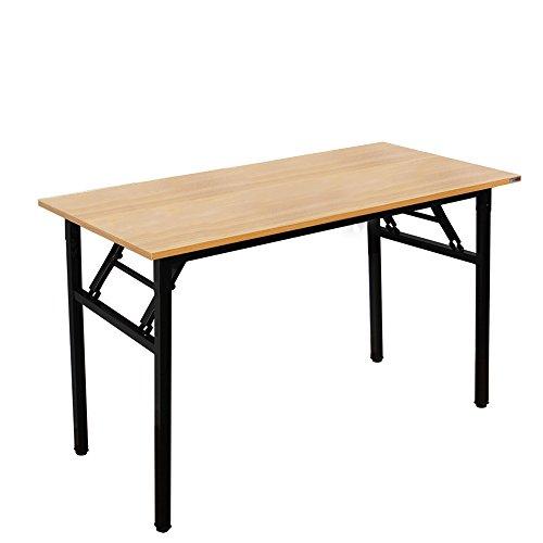 SogesHome Klapptisch Computertisch 120 x 60 x 75 cm PC Schreibtisch Schreibtisch Büroarbeitsplatz für Home Office Verwendung Schreibtisch, Esstisch Konferenztisch, Teak & Schwarz, AC5BB-120-SH