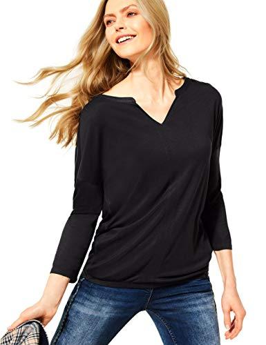 Cecil Damen 315953 T-Shirt, Carbon Grey, XS