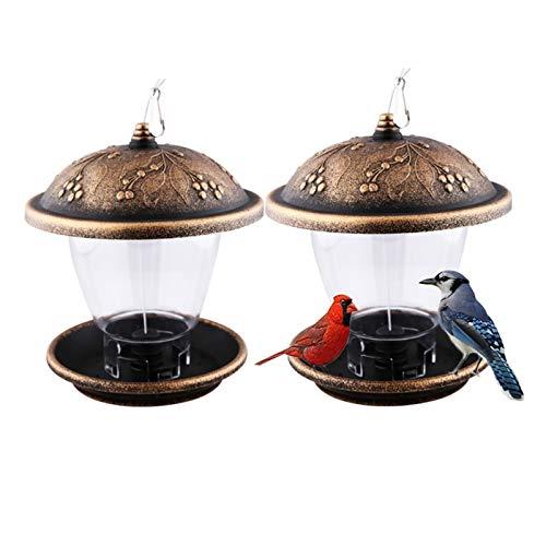 SLLX 1 stück hängende Vogel füge vögel füttern Tool Outdoor vogelkäfig hängen fütterung behälter Vogel wasserschüssel wassereinzug für doft (Farbe : Copper Color, Größe : 20X22.5CM)