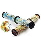 Vientiane Caleidoscopio, 2 Piezas Caleidoscopio Estirable Rotativo, Juguete Caleidoscopio de Papel Clásico Largo para Niños, Kaleidoscopio Juguete, Estimular La Imaginación, Niños
