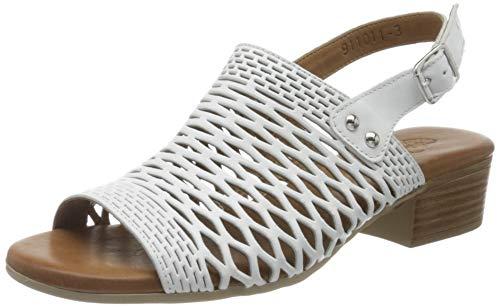 Piazza Damen 911011 Sandale mit Absatz, Weiß (3), 37 EU