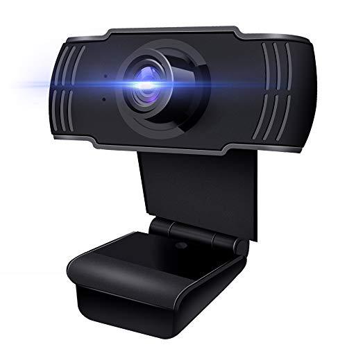 JOYSAE Webcam 1080P mit Mikrofon, Webcam USB 2.0 Plug & Play für Laptop, Computer, PC, Desktop, 110 ° Weitwinkel, für Live-Streaming, Videoanruf, Konferenz, Online-Unterricht, Spiel