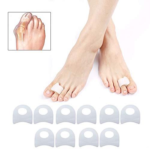 5 Paar Zehenstrecker, Zehenspreizer, komfortabel Hallux Zehenspreizer, Zehenteiler hallux, Silikon Zehenspreizer für Hallux Valgus Korrektur und überlappende Zehen, Schmerzlinderung