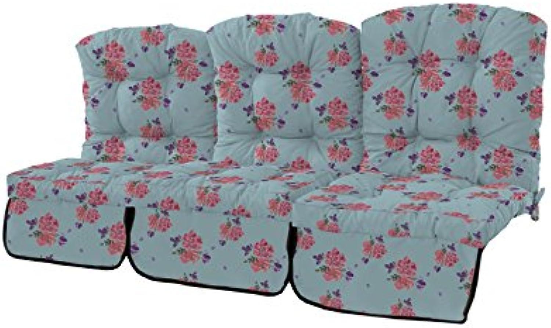 Gardenista Outdoor Garden 3-Sitzer Swing Kissen in Wasserfester Stoff mit Kabelbinder–(Ditsy). Hergestellt in den UK. getuftet Kissen Collection